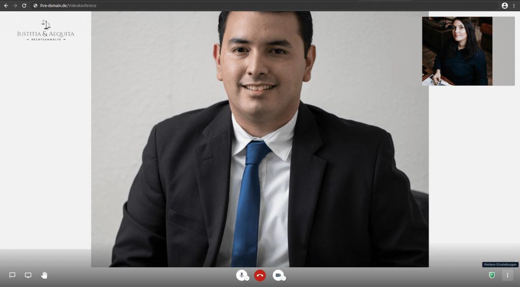 Videokonferenz Rechtsanwalt Kanzlei